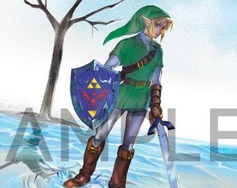 """Poster Print: Legend of Zelda """"Reflection"""""""