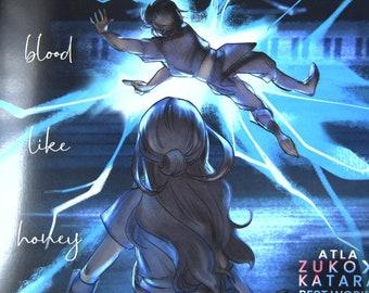 IN-STOCK ATLA Avatar Zutara Zuko x Katara Artbook - Like Blood Like Honey