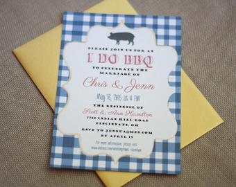 BBQ Wedding Dinner Invitation- Rehearsal Dinner, Ceremony