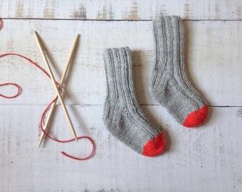 Monkey Socks 0-3 months Baby Socks Sox That Stay On Red Gray Infant Socks