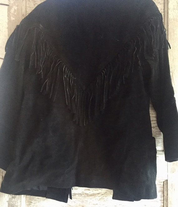 Vintage Western Suede Fringed Jacket