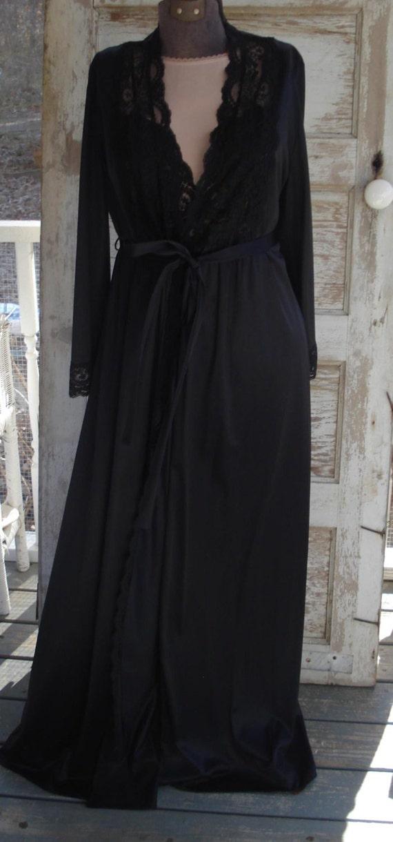 Fabulous Vintage Vassarette Sexy Black Lingerie Se