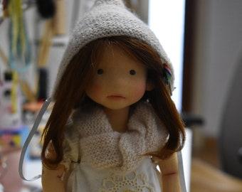 """RESERVED for Audrey  - JASMINE  19""""  natural fiber art doll,  OOAK"""