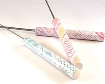 Lines, Stripes and Dashes Theme Patterned Split Pin Paper Bead Roller Set and Quilling Tools by One of a Kind Designs