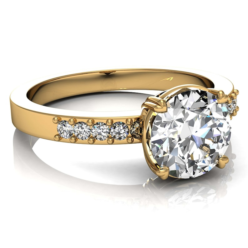 1a16352272dff GIA Certified Round Cut Diamond Engagement Ring 2.60 CT 14k Yellow Gold