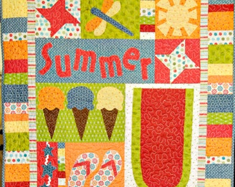 Summer Days Applique Quilt Pattern