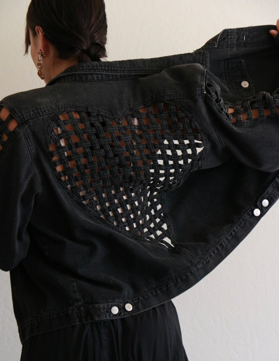 Stefano Black Denim Jacket