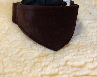 Fur lined velvet Martingale Collar
