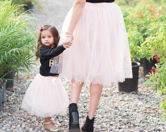 Claire Mommy and Me Tulle Skirts, Soft Tulle Skirts for Women & Kids, Baby Tutu, Family Photoshoot Outfit, First Birthday Outfit, Wholesale