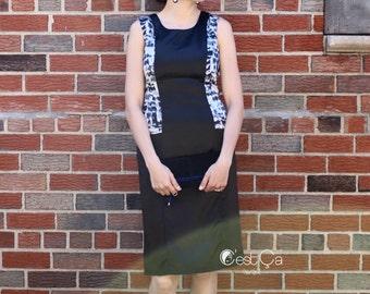 Alice Little Black Dress, Black Sheath Dress, LBD Dress, Dress with Pockets, Black Pencil Dress, Cocktail Dress, Wholesale