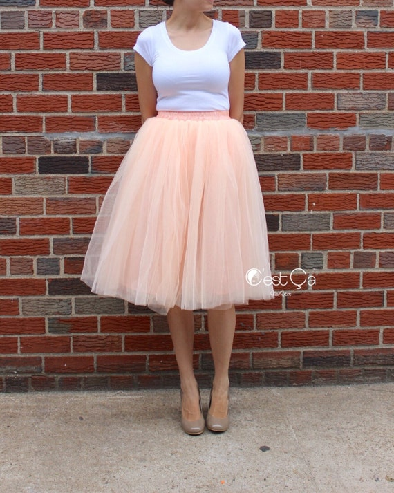Soft Tulle Skirt Layered Princess Tutu Pink Baby Tutu Claire Blush Peach Tulle skirt Baby Tulle Skirt Flower Girl Skirt