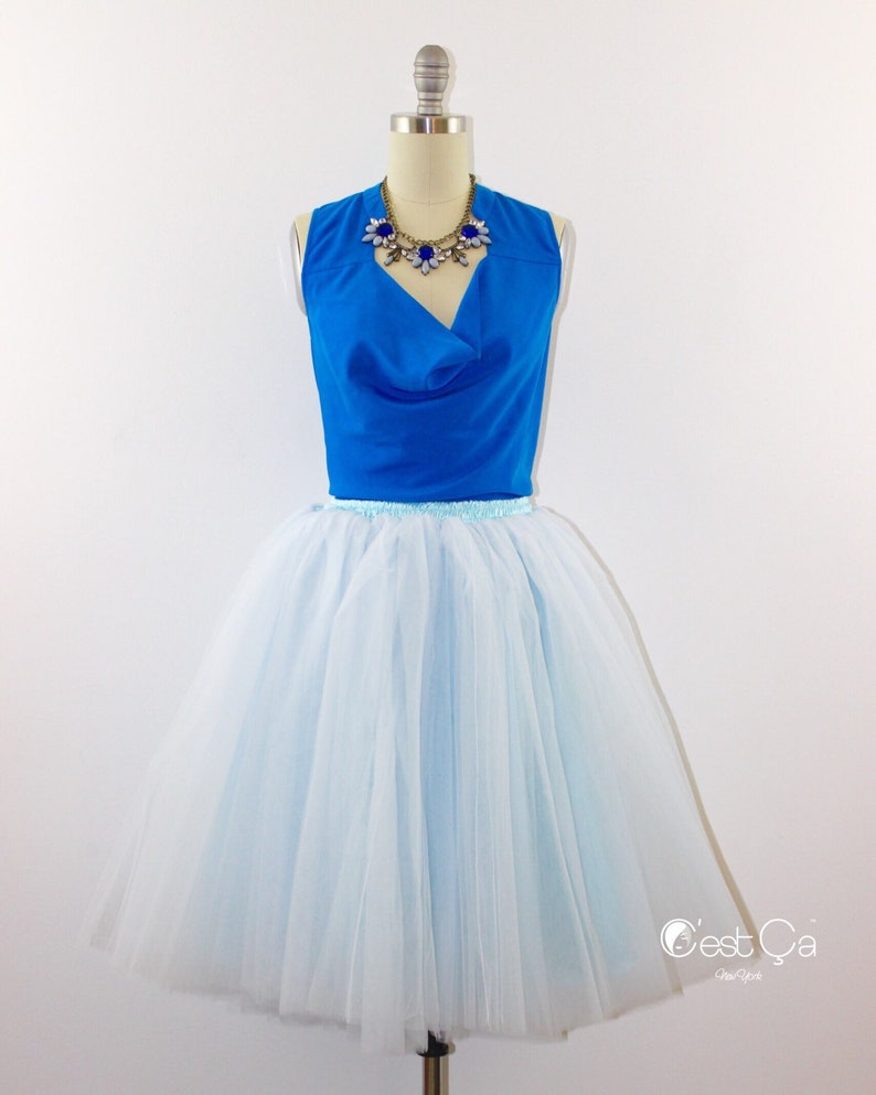 c6eef9abeb Clarisa Baby Blue Tulle Skirt Alternative Wedding Carrie | Etsy