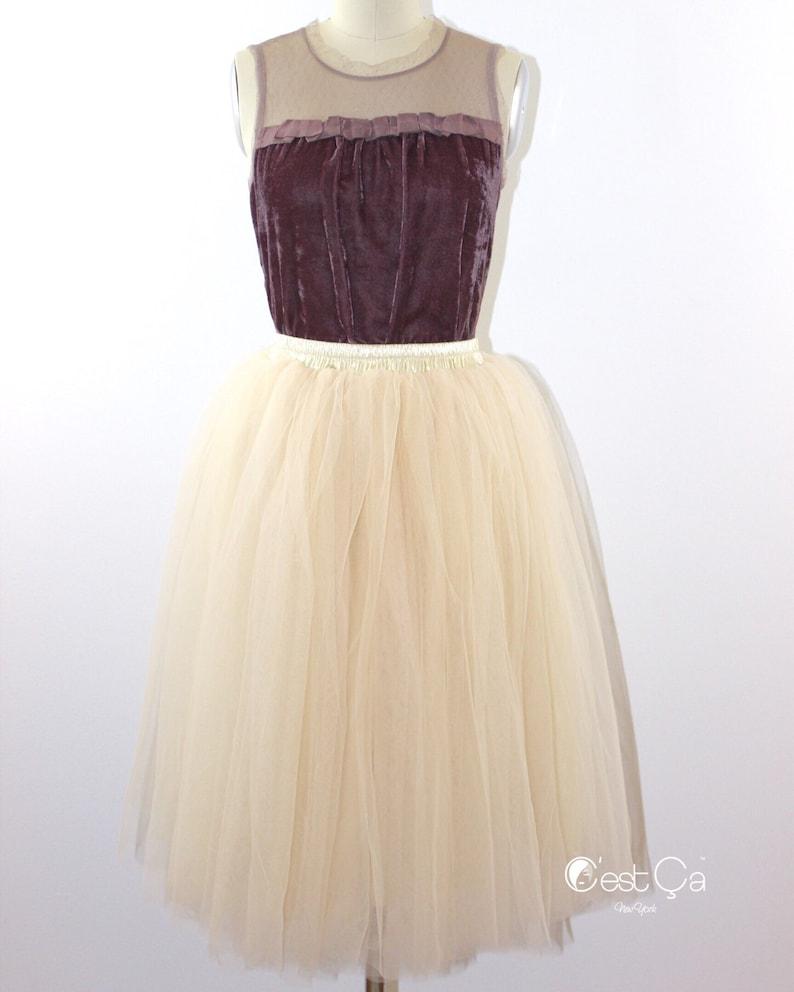 34caa02625 Colette Champagne Soft Tulle Skirt Premium Tulle Skirt | Etsy