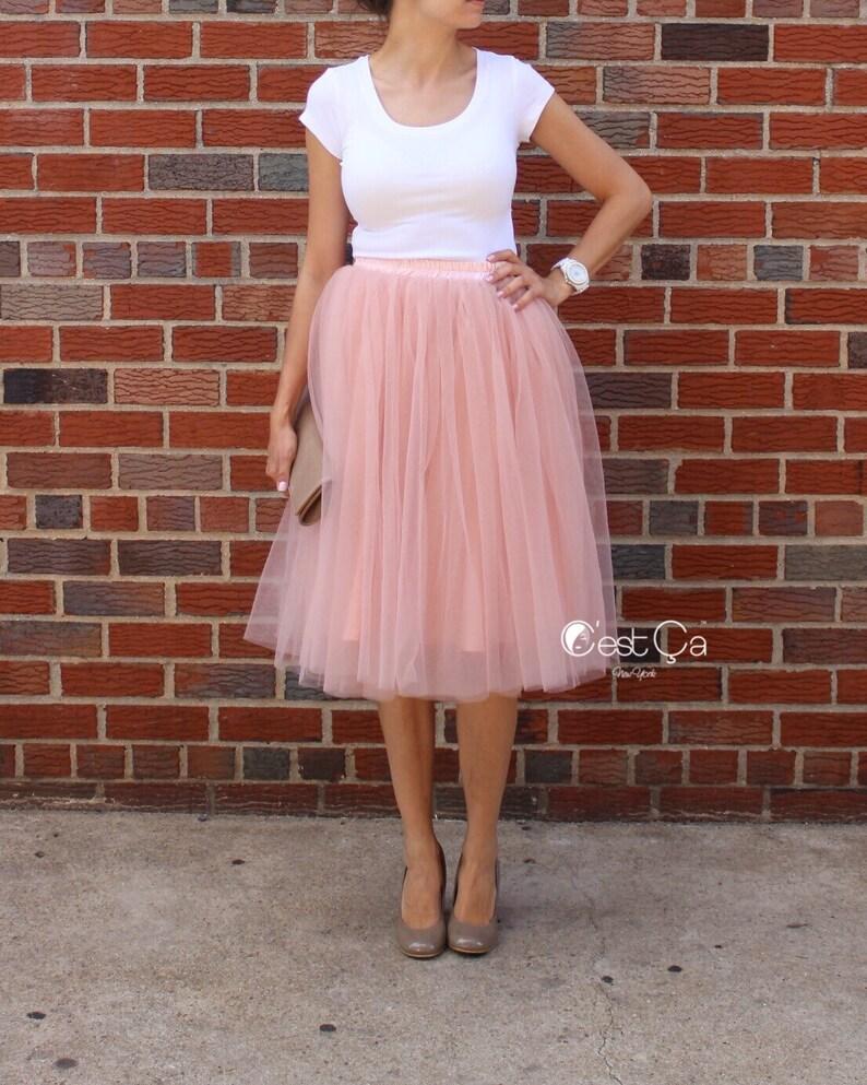 8452ab88 Colette-szara różowa Tiulowa spódnica, fioletowa spódnica Tiul, Premium  Tiulowa spódnica, miękki Tiul spódnica, plus rozmiar Tiul spódnica, ...
