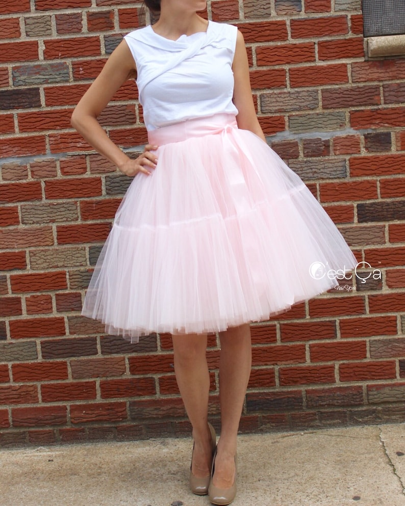 6a84b9482 Beatrice Blush Pink Tulle Skirt Extra Puffy Tutu Princess | Etsy