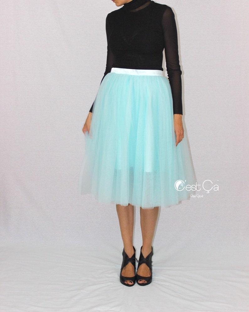 9c4dba3f85 Colette Turquoise Tulle Skirt Baby Blue Tulle Skirt Robin | Etsy