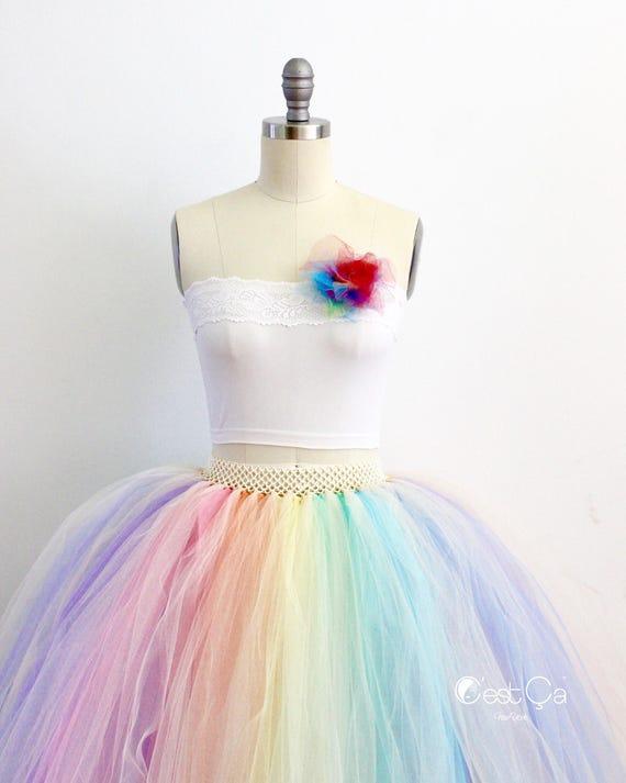 informazioni per abcf9 001d2 Gonna in Tulle Maxi pastello arcobaleno, arcobaleno gonfi Tutu, alternativa  sposa gonna, più dimensioni gonna in Tulle, gonna in Tulle nuziale, ...