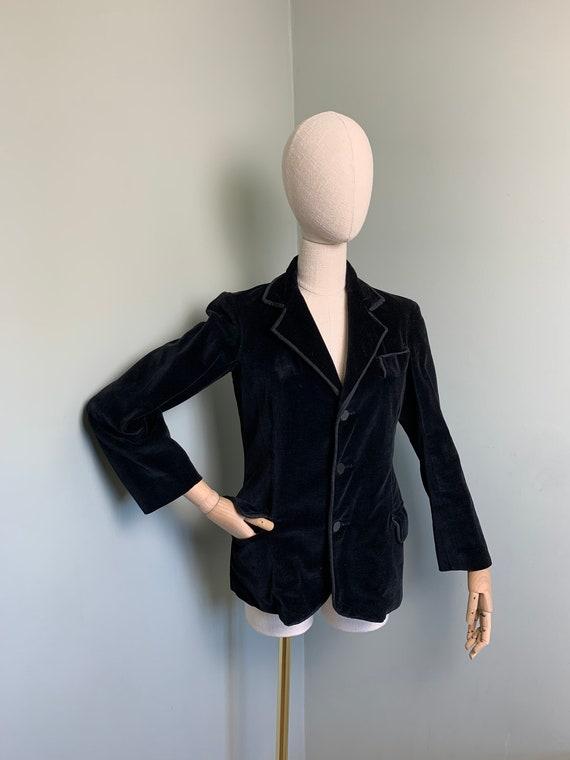 Jacket 1930s Jacket Edwardian Velvet Tuxedo 1920s