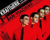 KRAFTWERK the Man Machine FACTORY SEALED Capitol Vinyl Lp 1978 ELeCTRONIC Record Album 1993 Reissue KaRL KLEFiSCH Cover Art MaN-MaCHINE