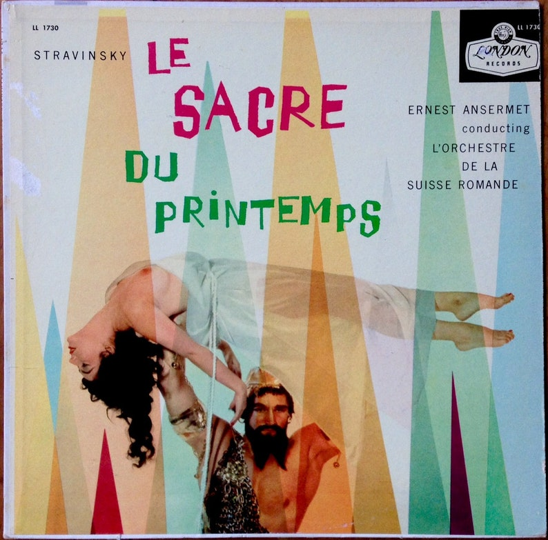 topless NUDE CHEESECAKE Album Cover 1950s Stravinsky 'Le image 0