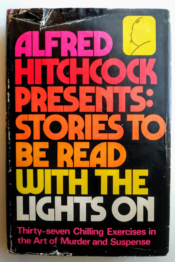 Vintage ALFRED HITCHCOCK PRESENTS - Stories To Be Read With The Lights On  book 1973 hardcover w/ dj Murder Mystery + Suspense Roald Dahl