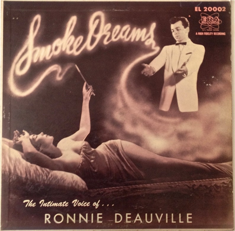 Ronnie Deauville SMOKE RINGS Sexy CHEESECAKE Cover Art 1956 Lp image 0