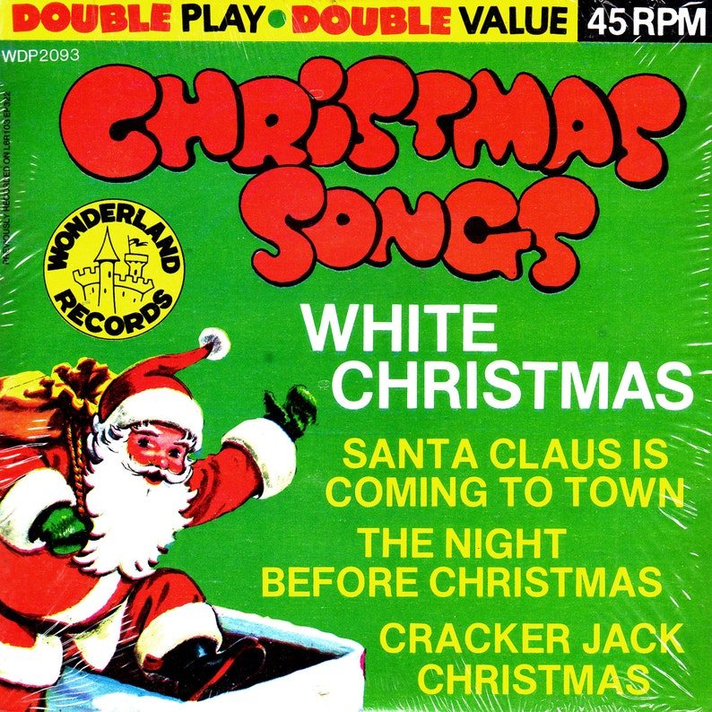 SEALED Vintage CHRISTMAS Songs HOLIDAY Vinyl Ep 7 45rpm image 1