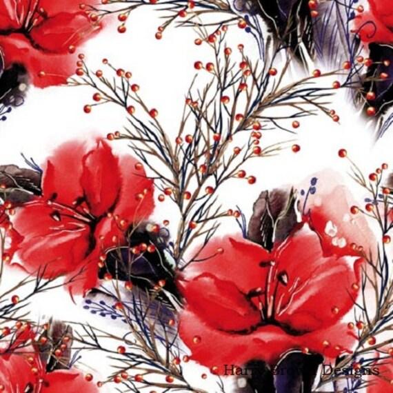 Flores álbumes de recortes 3ply elaboración de tarjetas x 2 Decoupage Papel Servilletas
