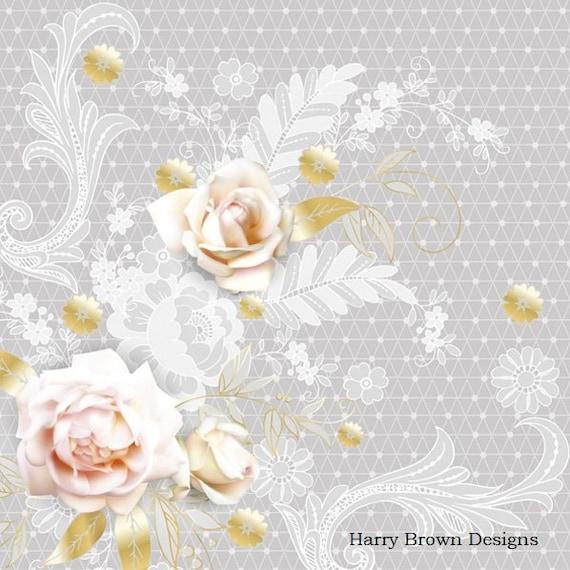 Pink Rose Weddings 2 Paper Napkins Serviettes for Decoupage Parties