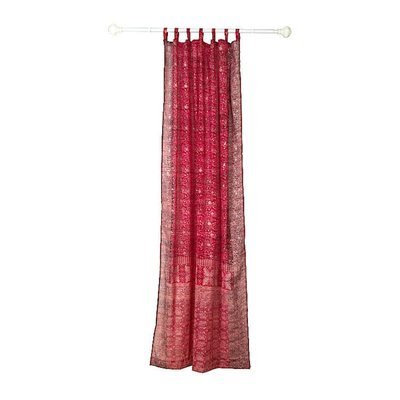 RED Curtain Burgundy Red Maroon Colorful Window Treatment