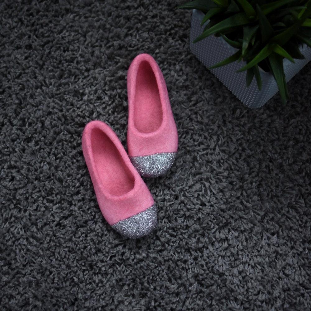 felted slippers for girls felted ballet flats glitter house