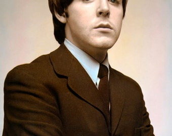 Paul McCartney The Beatles Singer Songwriter 8x10 Hand Color Tinted Photograph