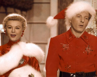 danny kaye vera ellen white christmas 1954 hollywood movie stars actors 8x10 hand color tinted photograph - Actors In White Christmas