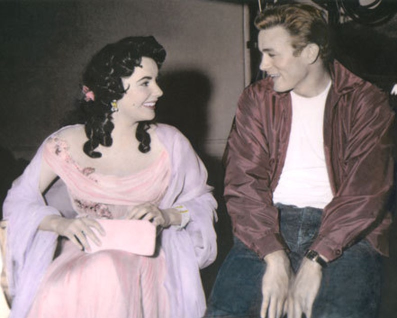 Elizabeth Taylor James Dean Giant 1956 Hollywood Movie Stars Actors 8x10