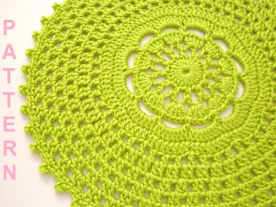 Crochet Picot Edge Placemat Pattern Crochet Placemat Pattern Etsy