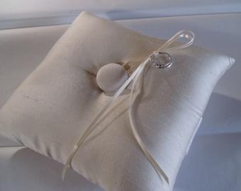 BIG SALE Basic Elegance Silk Shantung Ring Bearer Pillow  Ivory or White