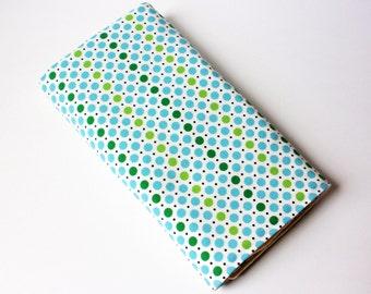 Dots Baby Changing Pad - Blue, Green and Black Polka Dots Baby Changing Mat