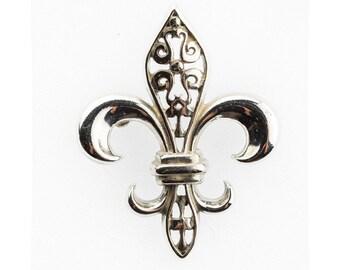 Fleur De Lys Brooch Sterling Silver 925