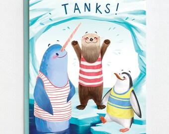 Thank You Card - Tanks! - Pun Thanks Card.