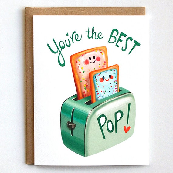 Fathers Day Card Dad Birthday Card Best Pop Card For Dad Etsy