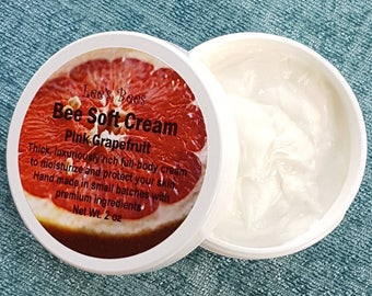 Organically Raised Beeswax Natural Skin Cream with Grapefruit Essential Oil
