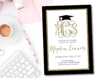 Class of 2018 Graduation Invitation - 5x7 Graduation Party Invitations - Printed or Printable - Free Shipping