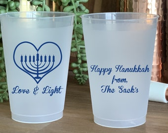Hanukkah Stadium Cups Hanukkah Party Cups 129 Frosted Cups for Hanukkah LIT AF Frosted Cups Hanukkah Party Favors Hanukkah Beer Cups