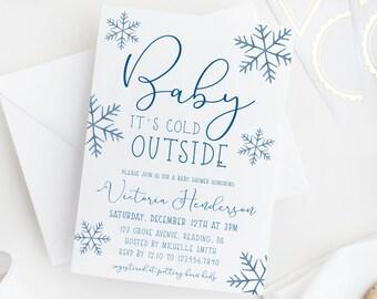 snowflake invitation etsy