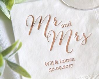 Personalized Wedding Napkins.Personalized Wedding Napkins Etsy