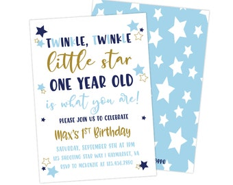 one year invitation etsy