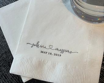 Cheap Wedding Napkin.Personalized Wedding Napkins Etsy