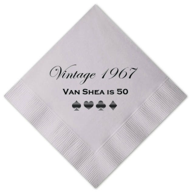 Vintage Birthday Personalized Napkins