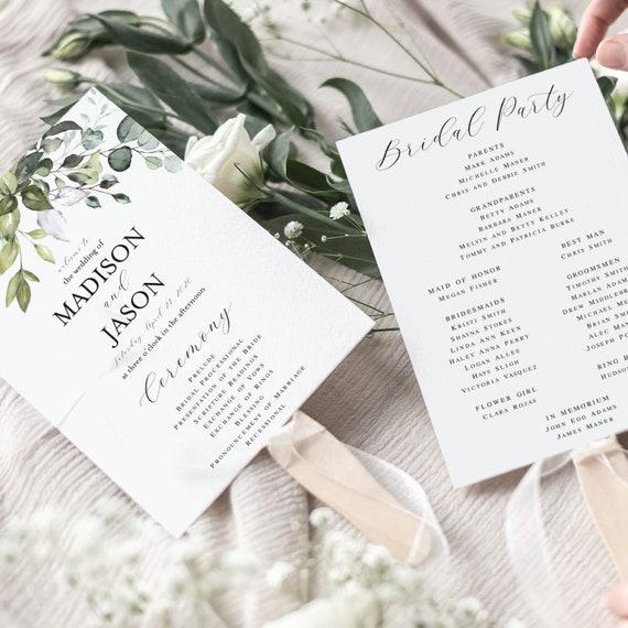 Instant Download Modern Wedding Ceremony Programs Wedding Fan Program Edit Now Script Fan Program Ceremony Fan By Pink Poppy Party Shoppe Catch My Party