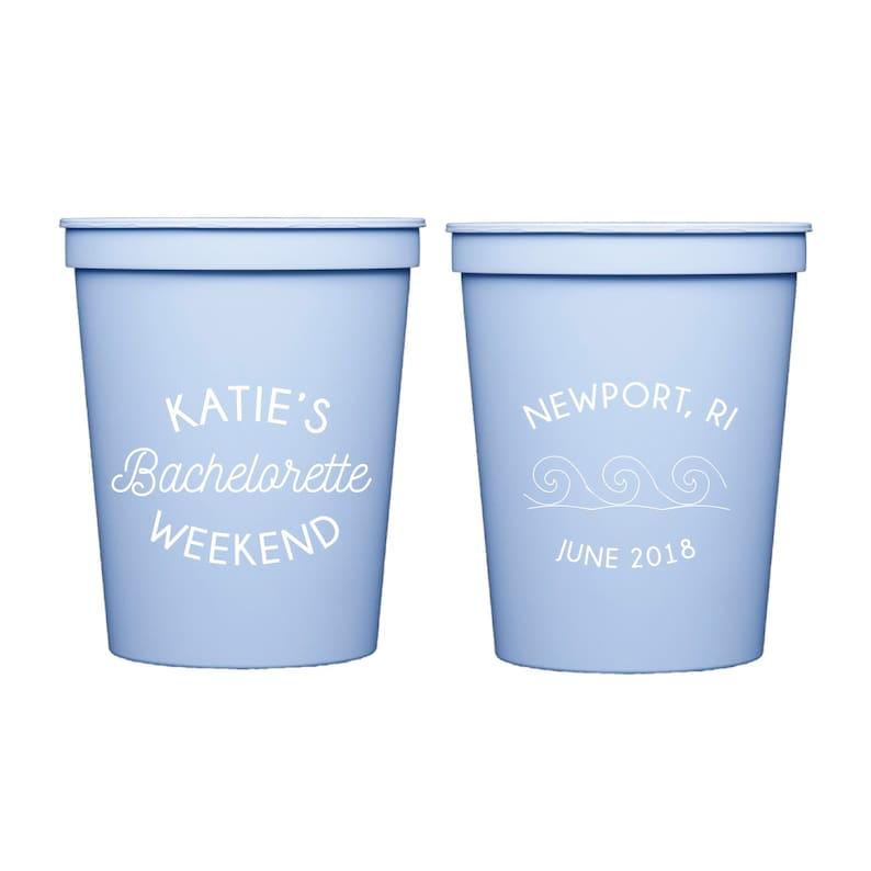 Last Splash Beach Bachelorette Beach Bachelorette Weekend Personalized Stadium Plastic Cups Bachelorette Party